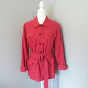 SUSAN GRAVER Style Trench Coat Jacket